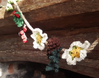 Winter  Crochet Garland