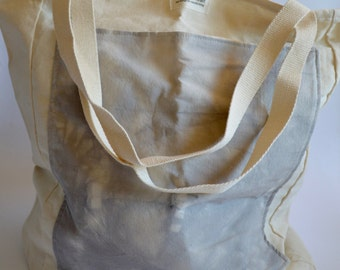 Market Bag. Grey Naturally Dyed. Large Carryall. Farmers Market Tote. Plant Dyed Bag. Sustainable Tote Bag. Holdall Bag. Natural Tote