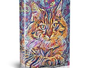 Cat Painting, Feline Canvas Print, Pet Wall Art
