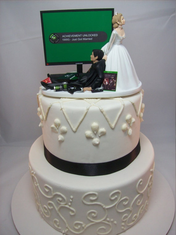 funny wedding cakes designs achievement unlocked engagement wedding 14578
