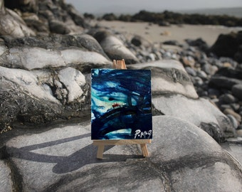Tidal Water II - Little Easel Wax Painting