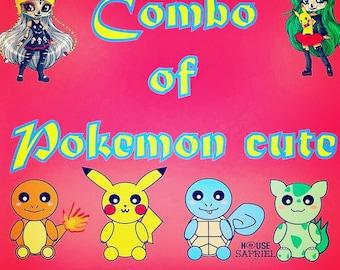 FREE SHIPPING!! Combo of Pokemon cute ,pikachu ,charmander,bulbasaur,squirtle.