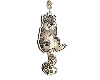 Snow leopard charm