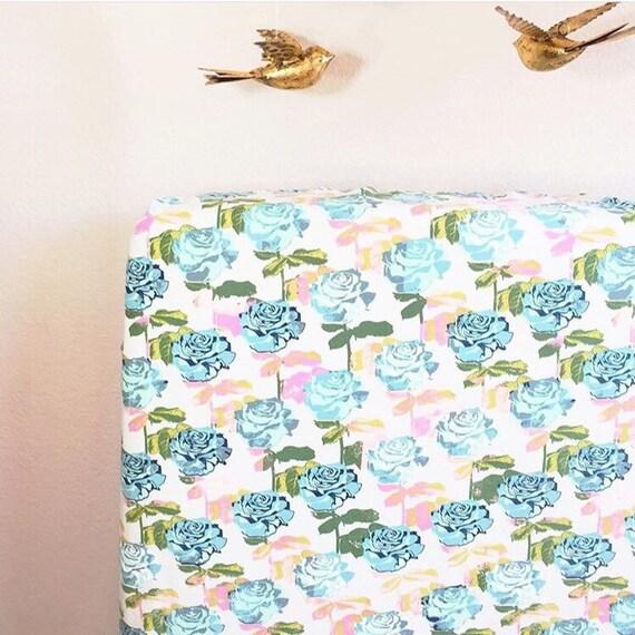Rose Garden Crib Sheet Fitted Crib Sheet Girl Crib Sheet