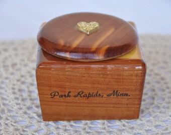 Park Rapids, Minnesota Wood Souvenir Trinket Box