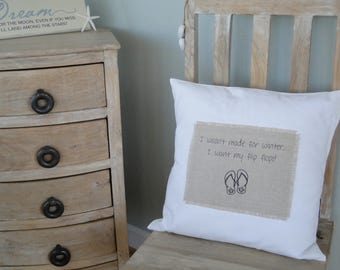 Decorative pillow   Girlfriend gift   Best friend gift   Birthday gift   Coastal decor   Beach decor   throw pillow
