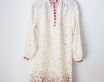 SALE// 70s Floral Maxi Dress