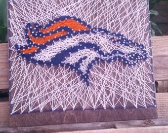 Denver Broncos State Sign String Art