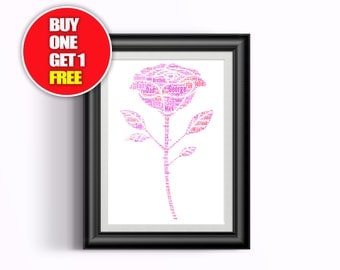 Rose artwork,  Roses present, Rose,  Rose word art