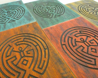 Westworld maze carving, wood decor west world theme dyed carving, wild west future Dolores , the maze is not for you.
