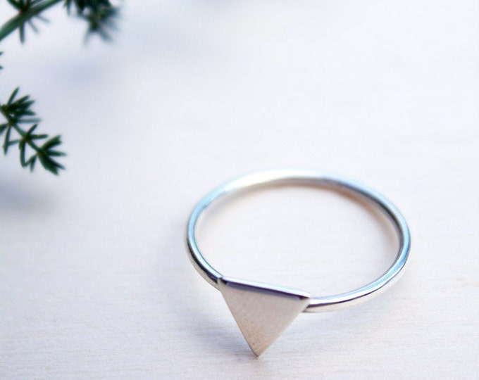 Triangle Ring, Minimalist Ring, Sterling silver boho ring, silver jewelry, geometric jewelry, gift for woman, womens gift, birthday gift