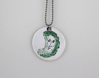 Pickle Pendant + chain