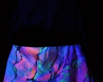 UV, Pixie skirt, psy trance, skirt, Goa, Festival, party dress, blacklight