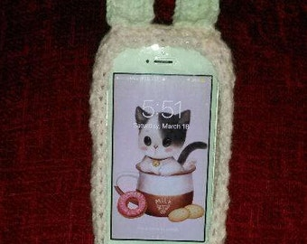 Crochet Bunny iPhone Cover (Easter Gift)