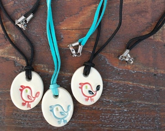 Bird Necklace, Bird, Small Bird Necklace, Ceramic Necklace