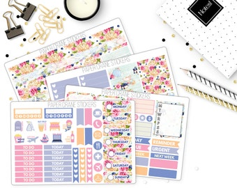 Blueberry Tea - White Space Weekly Kit - Planner Stickers