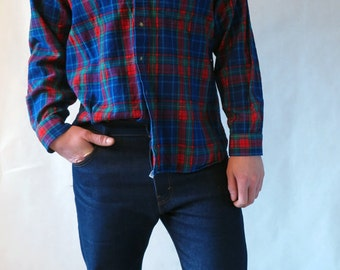 Vintage Pendleton Plaid Flannel Shirt