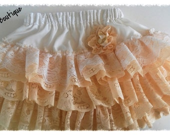 Girls' vintage lace Shabby Chic twirly skirt-12mth thru 4T-wedding party