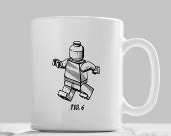 Lego Mug Fig.6,Lego Building Block Mug, Lego Brick, Lego Mug, Lego Gifts, Engineer Gift