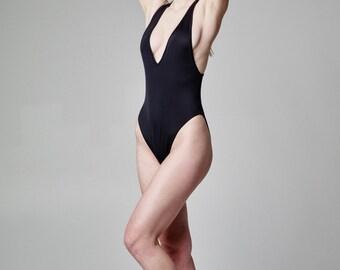 Plus Size Swimwear, One Piece Swim Suit, Womens Swimwear, Sexy Black Bodysuit, One Piece, Gift For Her, Black Bathing Suit, Resort Wear