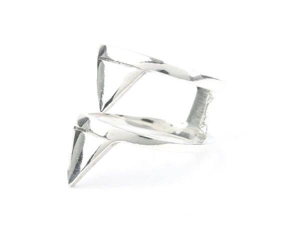 Latona Ring, Sterling Silver Stacked Ring, Geometric Ring, Minimalist Ring, Modern Jewelry, Boho, Bohemian, Gypsy, Festival Jewelry