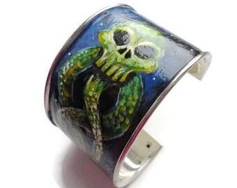 Bracelet Death Eaters Harry Potter. Leather bracelet of the dark mark Harry Potter.Spell Lord Voldemort. Sign Morsmordre