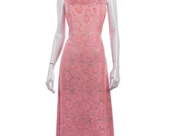 Dorville vintage 1960's long pink dress