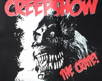 """BACK PATCH - Creepshow """"The Crate"""" - canvas HORROR - Stephen King George Romero"""