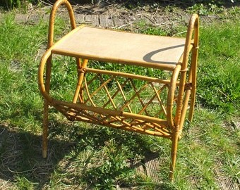 """Tablet in rattan and bamboo """"Vintage"""""""