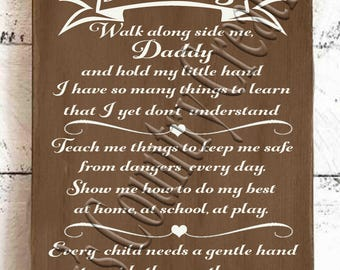 Walk with me Daddy   SVG, PNG, JPEG
