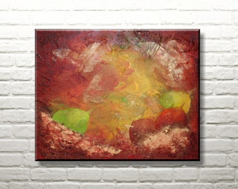 Original Abstract Painting | Autumn Leaves 40x50 cm | Acryl on canvas
