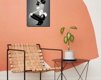 Playboy, Chipboard Art Print, Wall Decor, For home and office decoration, Handcrafted from recycled chipboard, No frame