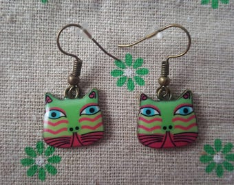 Colourful Cat Earrings