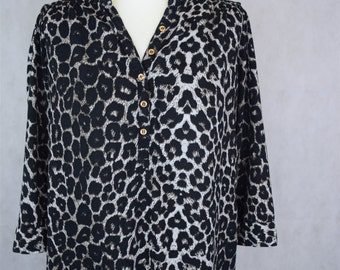 Leopard Print Blouse, Leopard Print, Kawaii Clothing, Women's Blouses, Vintage Blouse, Blouses, Women's Clothing, Vintage Clothing
