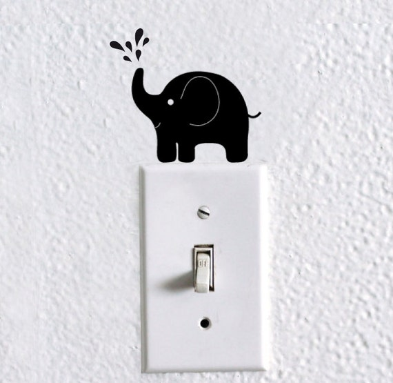 items similar to elephant light switch decal   elephant