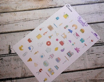 Icons Silly Saturday - Whimsical Stickers - Silly Stickers - Whimsical Icons - Sampler Sheet - Fun Stickers - Fun Icons - Stickers - Whimsy