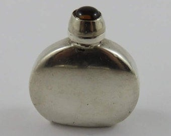 Mexican Silver Perfume Bottle