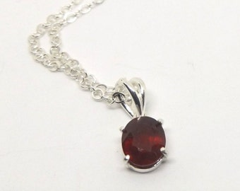 10 x 8 mm Natural Ruby Necklace