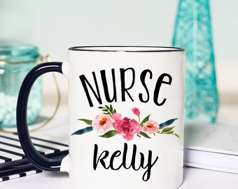 Nurse Mug, Nurse Gifts, Personalized Mug, Gifts for Nurse, Nurse Coffee Mug, Nurse Appreciation, Custom Mug, Registered Nurse Mug, Nurse Cup