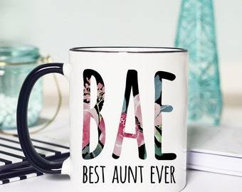 Bae Best Aunt Ever Mug, Bae Mug Best Aunt Ever Mug, Aunt Mug, Aunt Gift, Aunt Coffee Mug, Best Aunt, New Aunt, Best Aunt Ever Bae
