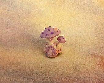 lavender Fairy house, miniature fairy house