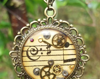 Timeless Musical Steampunk pendant