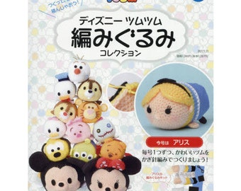 "Amigurumi Kit Alice,""Disney Tsum Tsum Amigurumi Collection vol.23 Alice"",Needlework,knitting"