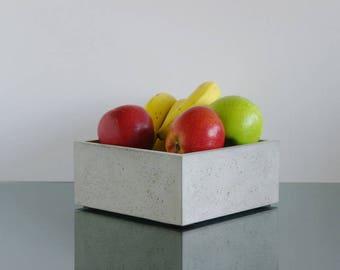 Concrete Fruit Bowl, Modern Bowl, Kitchen Bowl, Desk Bowl, Table Bowl,