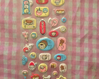 San-X Nyan Nyanko puffy sticker sheet RARE