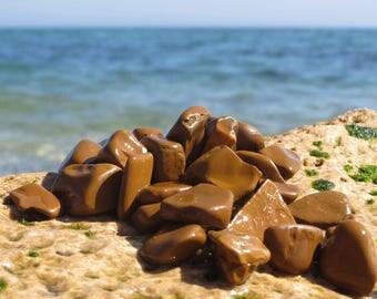 30 pcs genuine sea stones natural sea stones lucky stones rare terracotta beach stones beach lover gift for granny gift for mom gift for men