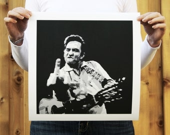 Johnny Cash // Print, Giclée Print, Home Decor
