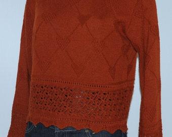Vintage brick color sweater Size 38 FR