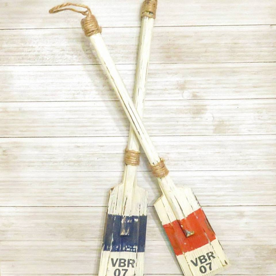 Nautical Wall Decor Oars: Pair Of Boat Oars Nautical Wall Decor Nautical Decor