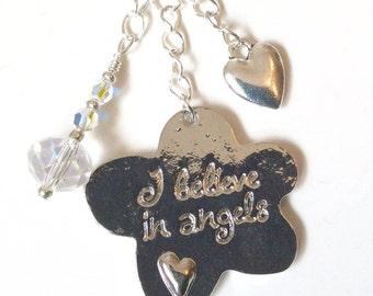 I Believe In Angels - bag or key chain